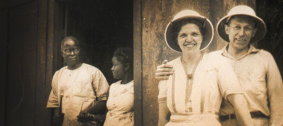 Mamma och Pappa då de förlovade sig i Monrovia