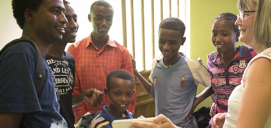 Barn i Awassa